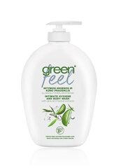 Intymios higienos ir kūno prausiklis su alavijais ir žolelių ekstraktais Green Feel 300 ml kaina ir informacija | Dušo želė, muilas | pigu.lt