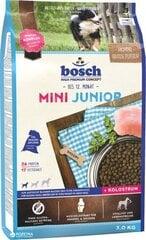 BOSCH Mini Junior pašaras skirtas jauniems, mažų veislių šuniukams 3 kg цена и информация | BOSCH Mini Junior pašaras skirtas jauniems, mažų veislių šuniukams 3 kg | pigu.lt