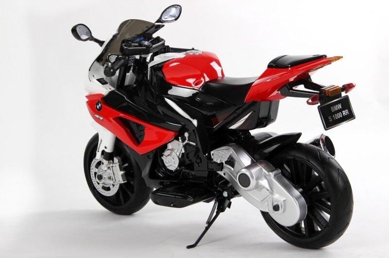 Elektrinis vaikiškas motociklas Hecht BMW, raudonas kaina