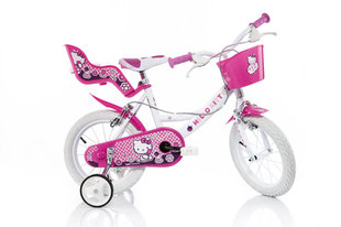 """Mergaičių dviratukas Dino Bikes Hello Kitty 14"""", 144R-HK"""