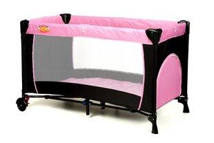 Kelioninė lovytė maniežas Basic, rožinė