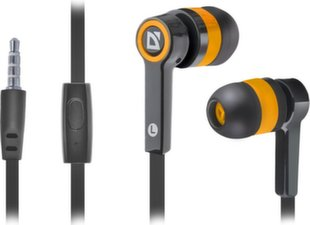 DEFENDER Headset for mobile devices Pulse 420 black + orange in-ear