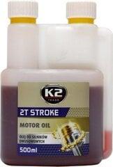 Pusiau sintetinė alyva dvitakčiams varikliams K2 2T Stroke oil, raudona