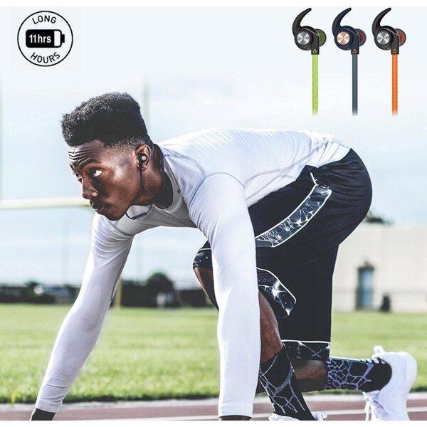 Belaidės ausinės Creative Outlier Sports, juoda internetu