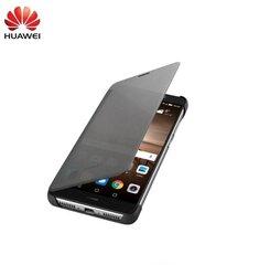 Atverčiamas dėklas Clear S-View Book skirtas Huawei Mate 9, Pilkas kaina ir informacija | Telefono dėklai | pigu.lt