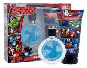 Rinkinys vaikams Marvel Avengers: EDT 75 ml + dušo želė 150 ml kaina ir informacija | Kvepalai vaikams | pigu.lt