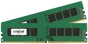 Crucial UDIMM DDR4, 2x4GB, 2400MHz, CL17 (CT2K4G4DFS824A) kaina ir informacija | Crucial UDIMM DDR4, 2x4GB, 2400MHz, CL17 (CT2K4G4DFS824A) | pigu.lt