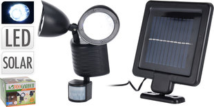 Šviestuvas su saulės elementu ir judesio davikliu kaina ir informacija | Lauko šviestuvai | pigu.lt