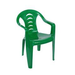 Plastikinė vaikiška kėdė Tola, žalia kaina ir informacija | Lauko kėdės, foteliai, pufai | pigu.lt