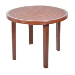 Plastikinis stalas Opal, rudas