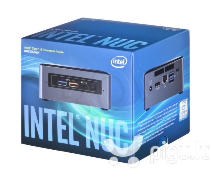 INTEL NUC BOXNUC7I5BNH Core I5-7260U M.2 + 6,35cm 2,5inch SSD + 32GB RAM + Intel Wireless-AC 8265 + BT 4.2