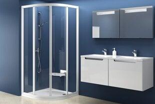 Pusapvalė dušo kabina Ravak SKCP4-90 Pearl, 90x90 cm