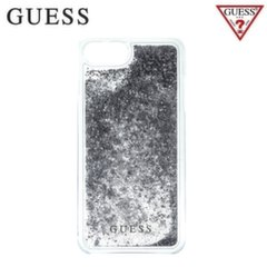 GUESS GUHCP7GLUFLSI Liquid Glitter Hard plastic back cover case Apple iPhone 6 / 6S / 7 4.7inch Silver