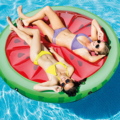 Pripučiamas plaustas Intex Watermelon Island, 183 cm kaina ir informacija | Pripučiami žaislai ir paplūdimio prekės | pigu.lt