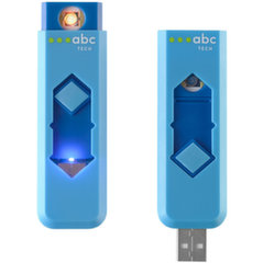 ABC TECH 129780 Pakraunamas elektrinis žiebtuvėlis, Mėlynas kaina ir informacija | Išmanioji technika ir priedai | pigu.lt