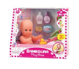 Lėlė-kūdikis su vonios rinkiniu Bambolina 8in1, 1405