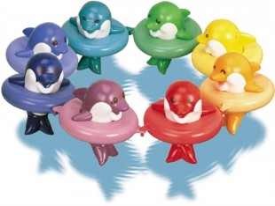 Vonios žaislas Tomy Delfinai DO RE MI
