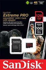 SANDISK EXTREME PRO microSDXC 128GB 100/90 MB/s A1 C10 V30 UHS-I U3