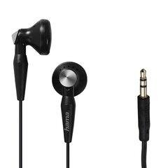 Ausinės Hama Basic4Music, stereo, 1.2 m laidas, juodos