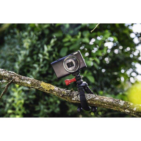 Mini stovasHamaFlex 2in1, skirtas fotoaparatams ir GoPro kameroms, 14 cm, juodas internetu