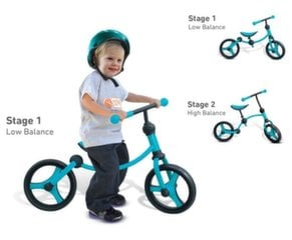 NEREZERVUOTI KORTA DUBLIUOJASI 18525065 Balansinis dviratukas SMART TRIKE 2in1 Turquoise