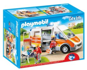Kонструктор 6685 PLAYMOBIL® Cilty Life, Ambulance with Lights and Sound