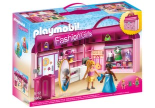 6862 PLAYMOBIL® Fashion Girls, Nešiojamas boutique