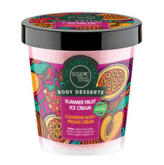 Valomasis kūno šveitiklis Organic Shop Body Desserts Summer Fruit Ice Cream 450 ml kaina ir informacija | Valomasis kūno šveitiklis Organic Shop Body Desserts Summer Fruit Ice Cream 450 ml | pigu.lt