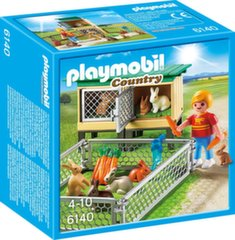 Kонструктор 6140 PLAYMOBIL® Country, Rabbit Pen with Hutch