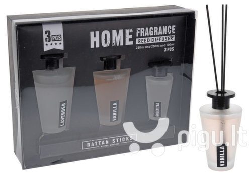 Namų kvapų rinkinys su lazdelėmis Home Fragrance 3 vnt.