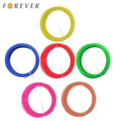 Forever ABS 1.75mm filament set 6in1 Red / Blue / Green / Yellow / Brown / Pink 3m each for 3D Printing Pen kaina ir informacija | Išmanioji technika ir priedai | pigu.lt