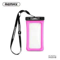 Remax Universal 20m Waterproof Seal Bag Case for mobile devices till 5 inch LCD Pink