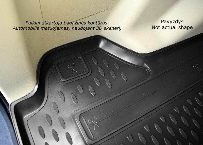 Guminis bagažinės kilimėlis HYUNDAI Santa Fe 2012-> (5 seats) black /N15033