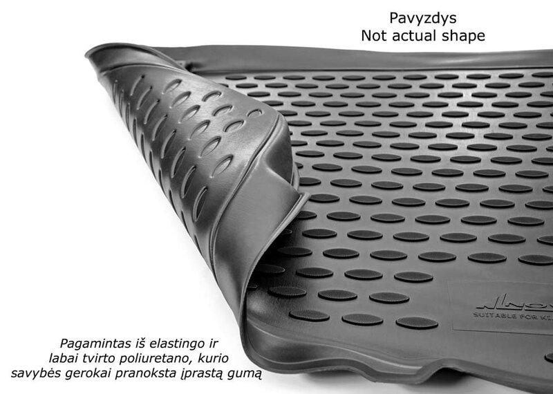 Guminis bagažinės kilimėlis SKODA Octavia liftback 2013-> black /N35004