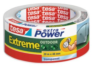 Audinio juosta tesa® extra Power Extreme Outdoor (skaidri), 20m x 48mm