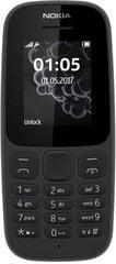 Nokia 105 (2017) DS, Juoda