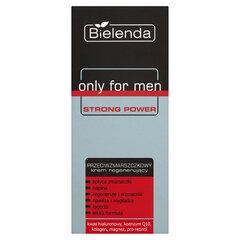 Jauninamasis ir regeneruojamasis veido kremas su kofermentais, retonoliu, hialurono rūgštimi Bielenda Only For Men Strong Power 50 ml kaina ir informacija | Veido kremai | pigu.lt