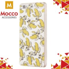 Apsauginė nugarėlė Mocco Cartoon Eyes Bananas Back Case, skirta iPhone 5 / 5S / SE telefonams, balta