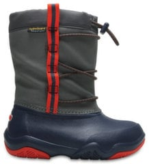Crocs™ aulinukai Swiftwater Waterproof Boot, Navy / Flame