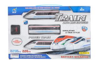 Express traukinys su bėgiais
