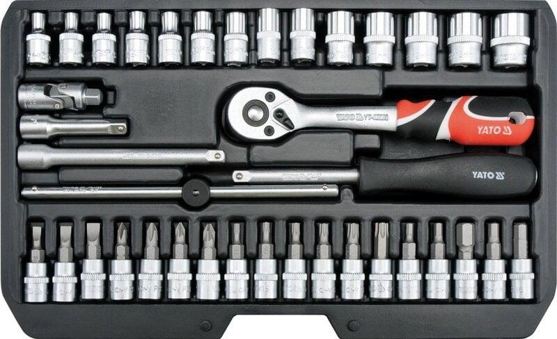 Įrankių rinkinys 38 vnt. 1/4 CrV Yato YT-14471