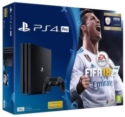 Sony PlayStation 4 (PS4) Pro, 1 TB + FIFA 18
