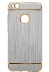 Mocco Exclusive Crown Back Case Silicone Case With Golden Elements for Samsung J330 Galaxy J3 (2017) Grey kaina ir informacija | Telefono dėklai | pigu.lt