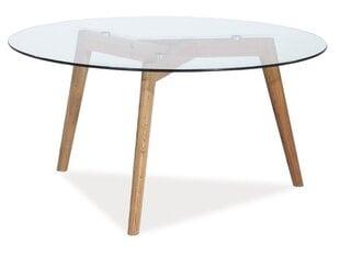 Staliukas Oslo L2, skaidrus/rudas kaina ir informacija | Kavos staliukai | pigu.lt