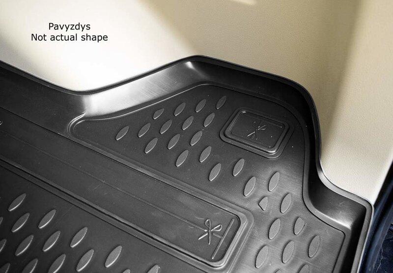 Guminis bagažinės kilimėlis TOYOTA Sienna 2013-> black /N39052