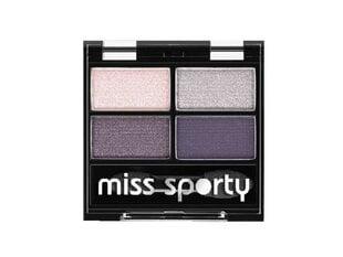 Akių šešėliai Miss Sporty Quattro Studio 3.2 g, 402 Smoky Green Eyes kaina ir informacija | Akių šešėliai, pieštukai, blakstienų tušai, serumai | pigu.lt