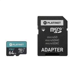 Platinet MicroSDHC 64GB Class 10/UHS 1 PRO + Adapter SD kaina ir informacija   Platinet MicroSDHC 64GB Class 10/UHS 1 PRO + Adapter SD   pigu.lt