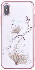 Devia Crystal Lotus, skirtas iPhone X / XS, Baltas, Rožinis kaina ir informacija | Telefono dėklai | pigu.lt