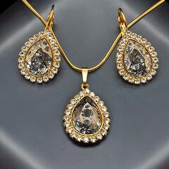 """Papuošalų rinkinys moterims DiamondSky """"Celestial Drop"""" su Swarovski kristalais"""