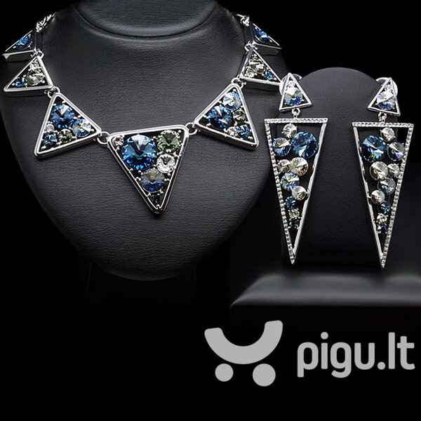 "Papuošalų rinkinys moterims DiamondSky ""The Edge of the Unknown"" su Swarovski kristalais"